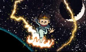 Young Einstein Riding a Lightwave