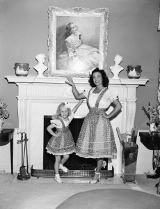Iconic narcissistic mother Joan Crawford, her daughter and her portrait