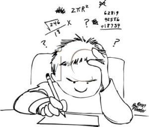 math cartoon frustration